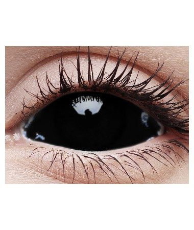 black sclera contact lenses 22mm (fulleye) | good quality